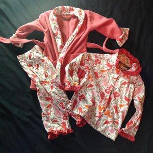 Other - BABY sz 18m 3-piece BASS PRO pajamas & robe